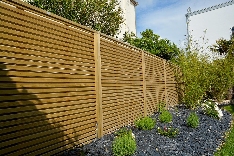 Habillage D Un Mur De Cloture clôtures - lafitte paysage