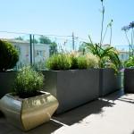 Jardiniére composite grise